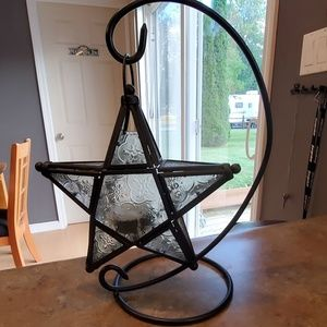 Other - Hanging Glass Star Candle Holder